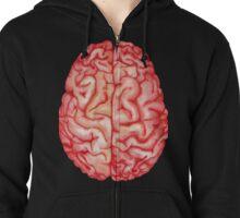 Watercolor brain Zipped Hoodie