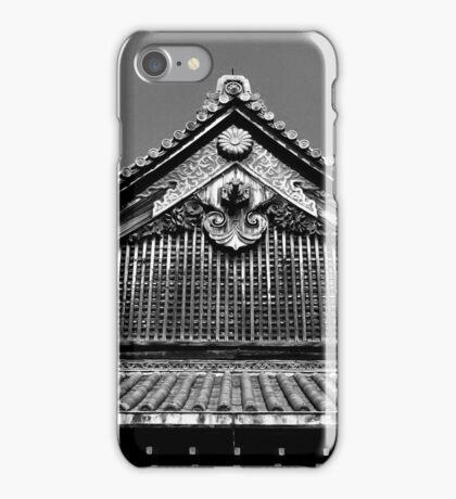 Nijo Castle, Kyoto (monochrome) iPhone Case/Skin