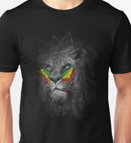 Lion of Judah Rasta Reggae Music Design Unisex T-Shirt