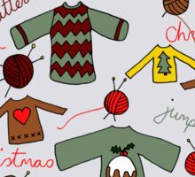 Knitted Christmas jumpers Sticker