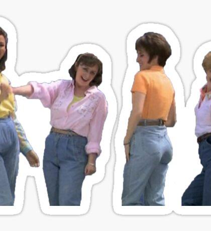mom jeans sketch Sticker