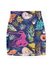 Cephalopods Mini Skirt