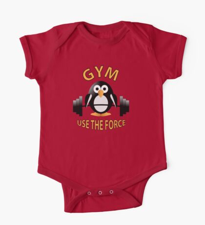 Penguin with a barbell One Piece - Short Sleeve