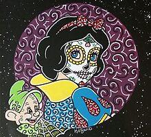 Sugar Skull Snow White 2 by Katherine  OGane