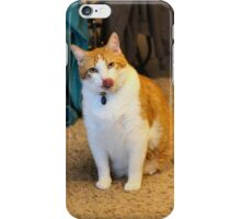 Are you eating Chicken Nana? Arnie loves chicken! iPhone Case/Skin