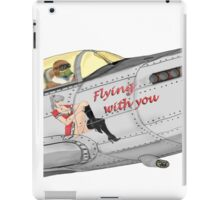 Aircraft nose art FlyN with U iPad Case/Skin