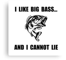 Big Bass Canvas Print
