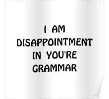 Disappointment Grammar Poster