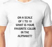 Favorite Color Alphabet Unisex T-Shirt