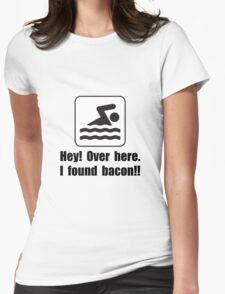 Found Bacon Womens Fitted T-Shirt