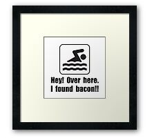 Found Bacon Framed Print