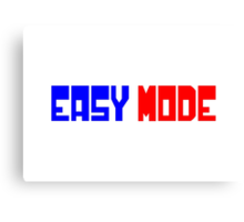Easy Mode Canvas Print