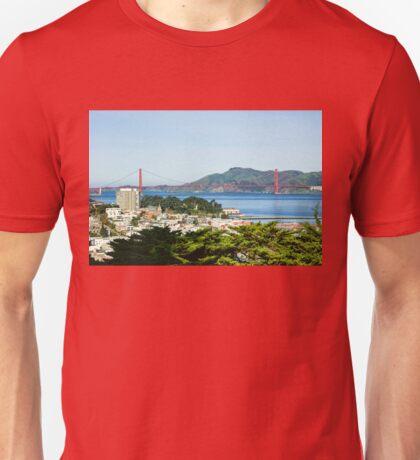 San Francisco Golden Gate Bridge Panorama Unisex T-Shirt
