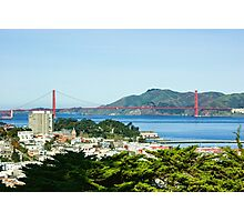San Francisco Golden Gate Bridge Panorama Photographic Print
