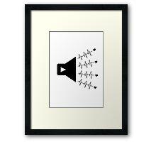 Music beats Framed Print