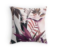 Magenta tropical floral Throw Pillow