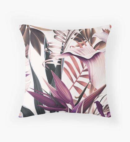 Magenta tropical floral Throw Pillow