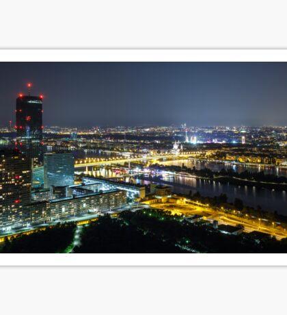 Vienna at night Sticker
