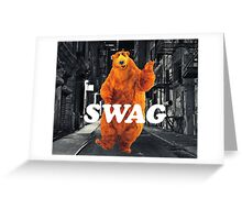 Bear in the hoodSwag Greeting Card