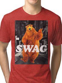 Bear in the hoodSwag Tri-blend T-Shirt