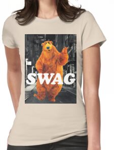 Bear in the hoodSwag Womens Fitted T-Shirt