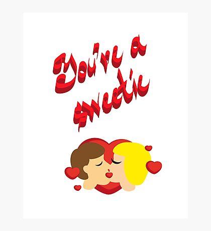 Sweet couple kisses, you sweet print. Photographic Print