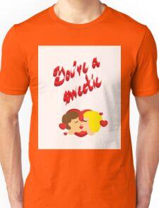 Sweet couple kisses, you sweet print. Unisex T-Shirt