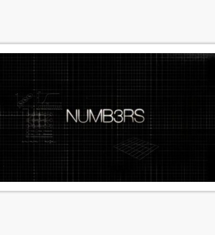 Numb3rs - Screen Shot from Title Sequence Sticker