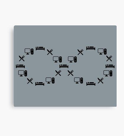 The Infinity Loop T Shirt Canvas Print