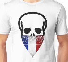 France Skull Gangster black Unisex T-Shirt