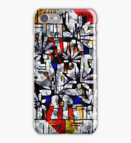 Daisy Abstract after Mondrian iPhone Case/Skin
