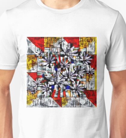 Daisy Abstract after Mondrian Unisex T-Shirt