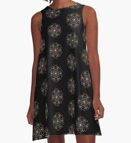 Unreal spectral symmetry, fancy a digital image A-Line Dress