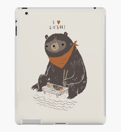 sushi bear iPad Case/Skin