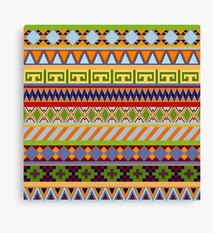 Tribal Aztec Patterns Canvas Print