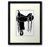 Western Theme - Saddle Silhouette Framed Print