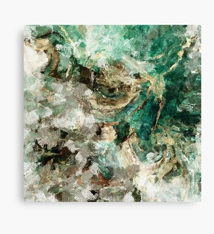 Teal Abstract Painting Art  Canvas Print