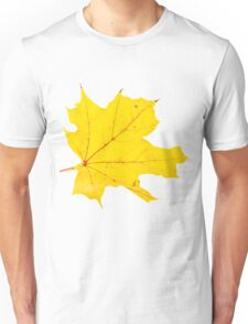 Yellow Autum Leaf Unisex T-Shirt