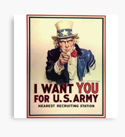 Uncle Sam WWI Poster Canvas Print
