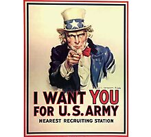 Uncle Sam WWI Poster Photographic Print