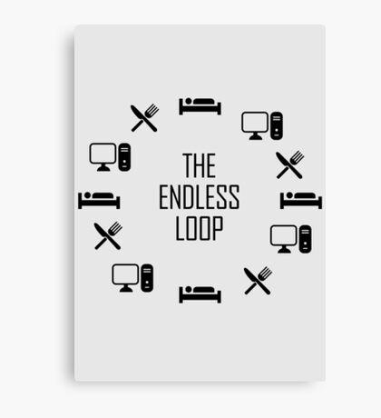 The Endless Loop T Shirt Canvas Print
