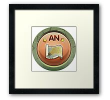 Glitch Achievement andra completist Framed Print