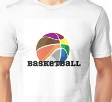 Colourful Basketball Unisex T-Shirt