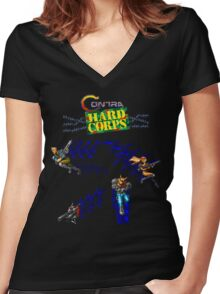 Contra Hard Corps (Genesis Character Lineup) Women's Fitted V-Neck T-Shirt
