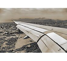 Airplane Arriving to Small Town Photographic Print