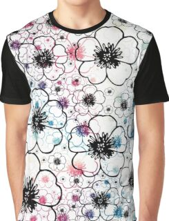 Blooming Poppies Graphic T-Shirt
