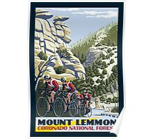 Cycling on Mount Lemmon Poster
