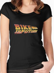 Bike To The Future Women's Fitted Scoop T-Shirt