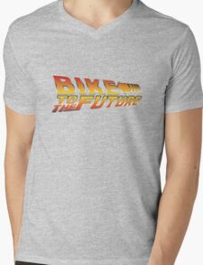 Bike To The Future Mens V-Neck T-Shirt