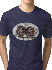 Two happy little owls Tri-blend T-Shirt